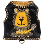 Couture Lion Microsuede Studded Dog Harness