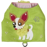 Chihuahua Art Lime Green Harness Vest