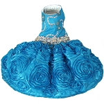 Aqua Blue Bling Party Dress Limited Edition