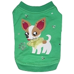 Chihuahua Art Green Dog T Shirt