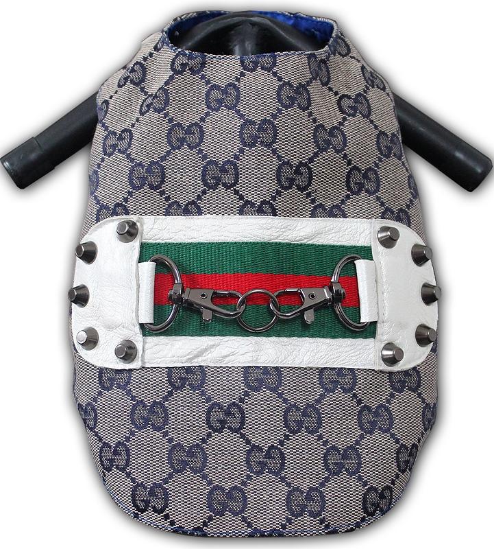 c55bd7608f0 Designer Blue Monogram Fashion Harness Vest