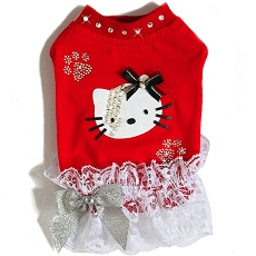 Hello Kitty Lightning Red Couture Dog Tshirt