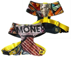 Step-In Choke Free Designer Graffiti 'Get Money' Fashion Dog Harness