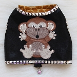 Monkey Couture Microsuede Studded Dog Harness Vest