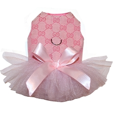 Ballerina Pink Monogram Tutu Dog Dress