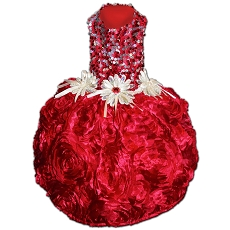 All That Glitters Red Sequin Party Dog Dress
