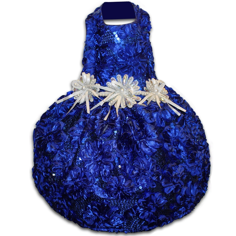All That Glitters Royal Blue Sequin Party Dog Dress
