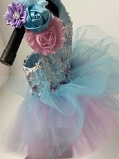 Whimsical Cotton Candy Sequin Dog Tutu Dress