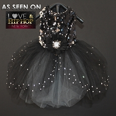 Night On The Town Black Glitters Sparkle Tutu Dog Dress