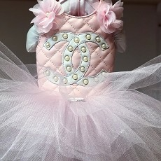Blush Pink Ballerina Dog Tutu Dress