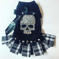 Punk Rock Orostani Crystal Skull Tshirt Dog Dress