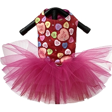 Conversation Hearts Dog Tutu Dress