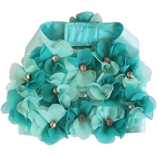 Aqua Flowers Elegant Wedding Dog Harness