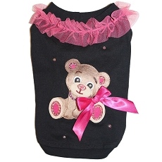 Beary Couture Pink and Black Dog Tshirt