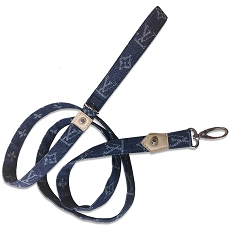 Denim Monogram Designer Inspired LV Luxury Dog Leash
