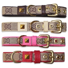 Luxury Designer Monogram GG Dog Collar