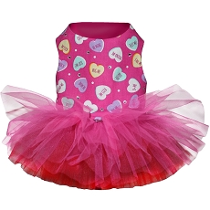 Candied Hearts Dog Tutu Dress Last one!