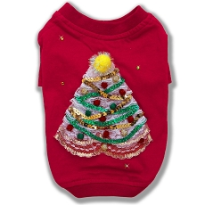 Christmas Tree Holiday Couture Dog T-Shirt
