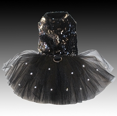 Black Glitters Sparkle Tutu Dog Dress