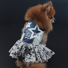Limited Edition Super Starlet Denim Dog Dress