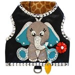 Couture Elephant Microsuede Studded Dog Harness