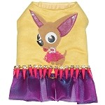 Tan Chihuahua Art Bling Spike Harness Dress