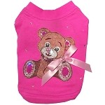 Couture Teddy Bright Pink Dog T-Shirt