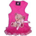 Couture Teddy Bear Pink Sweetheart Dog Tank Top Dress