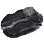 Ugg Style Shearling Dog Coat, Genuine Black Leather Lambskin, Winter Jacket