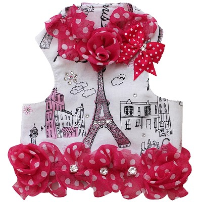 Eiffel Paris Rose Pink Designer Dog Harness