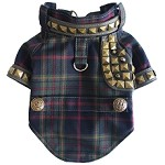Kennedy Plaid Glam Punk Studded Dog Tartan Jacket