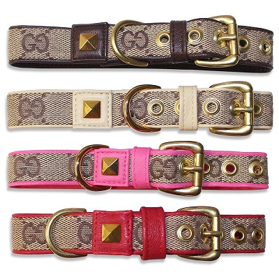 Monogram Fashion Dog Collar