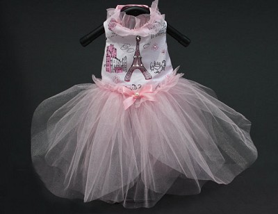 Ma Cherié Pink Paris Princess Tutu Dog Dress