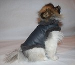 Gray Lambskin Shearling Leather Coat Sz SMALL