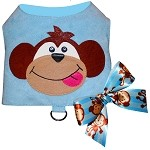Daddy's Little Monkey Baby Blue Ultrasuede Harness Vest