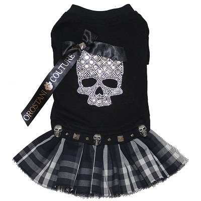 Punk Rock Crystal Skull Tshirt Dog Dress