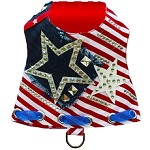 Patriotic Star Fashion Harness Vest
