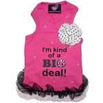I'm Kind Of A Big Deal Sweetheart Diva Girl Adorable Dog Tank