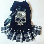 Punk Rock Orostani Crystal Skull Shirt Dog Dress