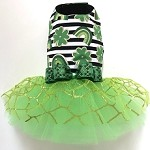 Lucky Charm St Patty's Dog Tutu Dress