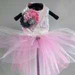 Cotton Candy Pink Sequin Dog Tutu Dress
