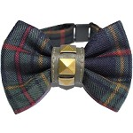 Kennedy Plaid England Scottie Dog Bow Tie Collar