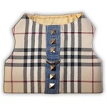 Fashion Plaid Denim Dog Harness Vest