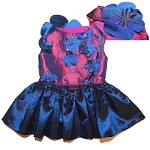 Plumeria Gardenia Lily Dog Harness Dress