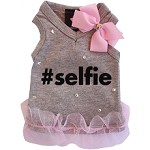 Gray Selfie Sweetheart V Neck Dog Tank XS-L