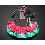 Black Red and Green Monogram Glam Dog Dress