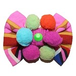 IBIZA Pom Pom Dog Hair Bow Clip