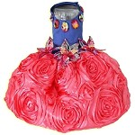 Maui Passion Lily Coral Party Dress, Limited Edition XS/S