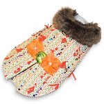 New Chic Orange Multicolor Luxury Tweed Dog Winter Coat