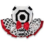 Polka Dot Elegance Holiday Dog Dress